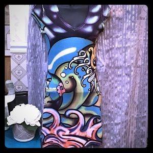 Ed hardy tee shirt dress mermaid size XS